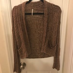 🆕Free People warm and cozy brown cardigan sweater